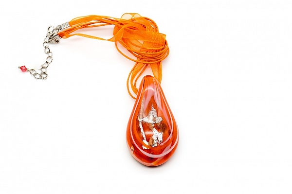 Bright Venetian glass pendant
